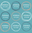 Collection of hand-drawn scribble circles on a vector image vector image