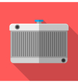 Colorful car radiator icon in modern flat style vector image