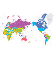 Colorful political map of the world with large