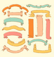 colorful set of hand drawn banners vector image vector image