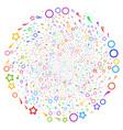 confetti stars swirl stream vector image vector image