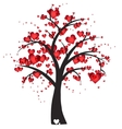 Decorative tree with hearts vector image vector image