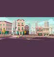 deserted empty city due to coronavirus pandemic vector image vector image