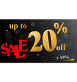 Discount sale banner vector image vector image