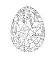 easter egg coloring book hand drawn vector image vector image