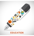 Education pen concept vector image vector image