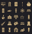 energy transfer icons set simple style vector image vector image