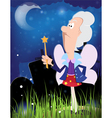 Fairy godmother with magic wand vector image vector image