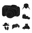 family holiday black icons in set collection for vector image