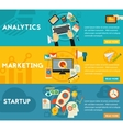 Flat concept banners Marketing Analytics vector image vector image