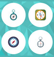 flat icon direction set of measurement dividers vector image vector image