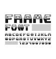 frame font alphabet vector image