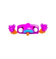 funny purple monster fabulous creature cartoon vector image vector image