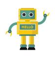funny yellow robot vector image