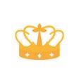 gold crown monarch jewel royalty vector image vector image