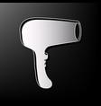 hair dryer sign gray 3d printed icon on vector image vector image