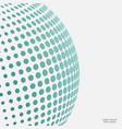 halftone spheres vector image vector image