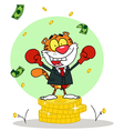 Happy Tiger Alated With Victory vector image vector image