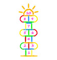 hopscotch game brushes strokes with by child vector image vector image