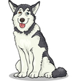 husky or malamute dog cartoon vector image vector image