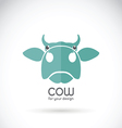 image of a cow head design vector image