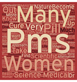 Is your PMS a curse that pushes you to buy a cure vector image