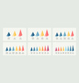 isometric infographics bar chart graph with 3 vector image vector image
