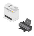isometric printer and scanner vector image vector image
