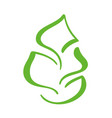 logo of green leaf of tea ecology nature element vector image