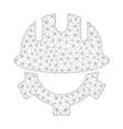 mesh development helmet icon vector image