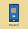 mobile banking digital wallet concept vector image vector image