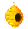 nest or vespiary of wild bees isolated on white vector image