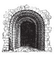 norman doorway norman roman architecture vintage vector image vector image