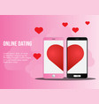 online dating concept ready to use suitable vector image vector image