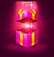 open gift stars vector image