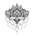 ornamental Lotus ethnic zentangled henna vector image