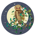 Owl and Moon vector image vector image