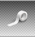 roll adhesive white tape realistic vector image vector image