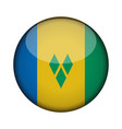 saint vincent and the grenadines flag in glossy vector image
