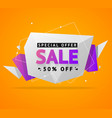 sale concept label flyer card origami style vector image vector image