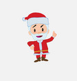 santa claus talking very determined and optimistic vector image vector image