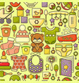 seamless pattern cute baby accessory to vector image