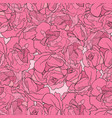seamless pattern with peonies vector image