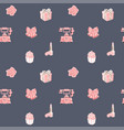 seamless pattern with romantic objects in vector image vector image