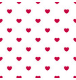 seamless pattern with small red hearts on white bg vector image