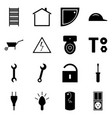 set of black icons flat a set of signs vector image