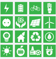 Set of energy saving icons - part 1 vector image vector image