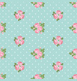 shabby chic rose seamless pattern on polka dot vector image vector image