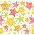 Snowflake Textured Christmas Stars Seamless vector image vector image