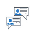 social chanels glyph icon vector image